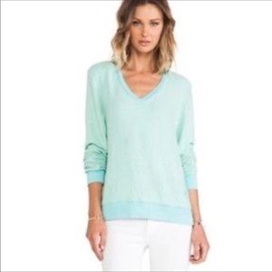 WildFox Mint Green V Neck Sweater